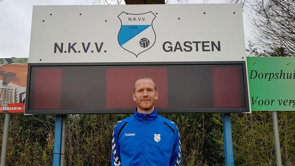 Patrick Biesbrouck is al zes jaar actief als voetballer bij NKVV...